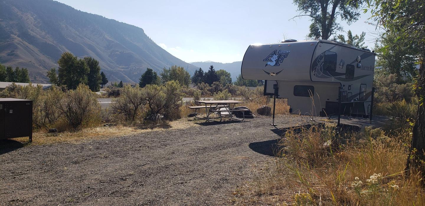 Mammoth Hot Springs Campground Site 6Mammoth Campsite #6