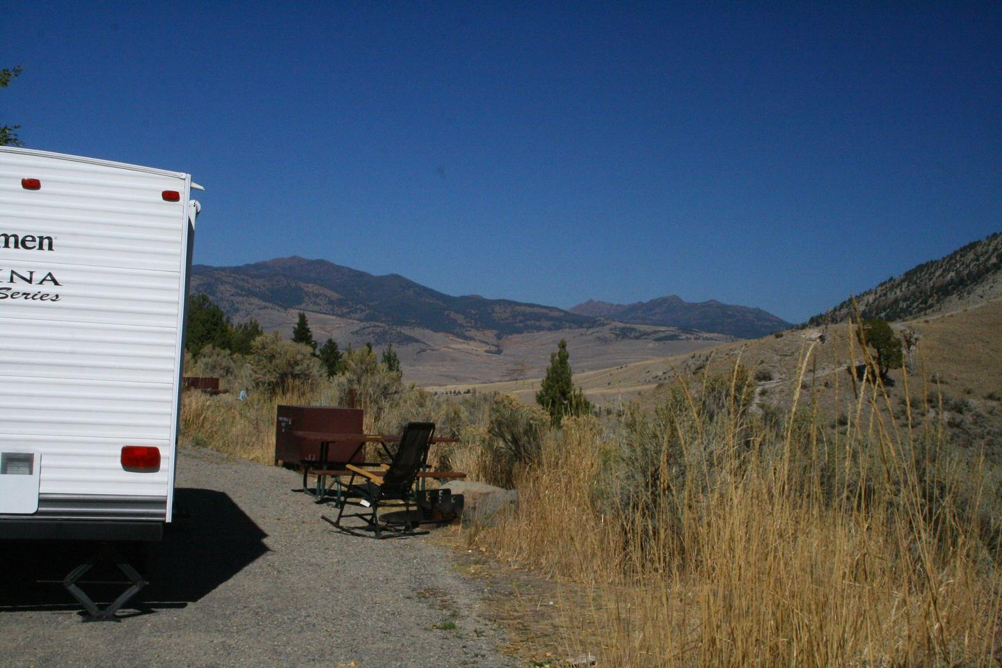Mammoth Hot Springs Campground Site 11Mammoth Campsite #10