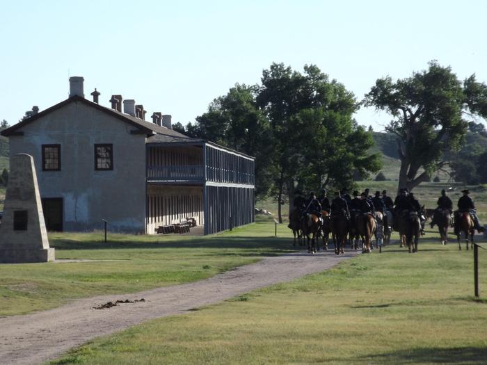 11th Kansas Ride Past the Cavalry BarracksRiding past the Cavalry Barracks