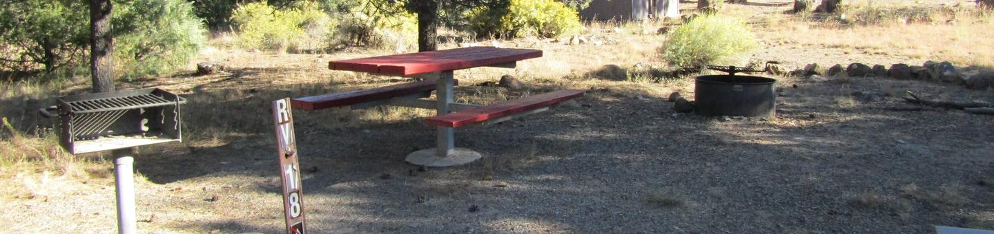 RV Site 18Table