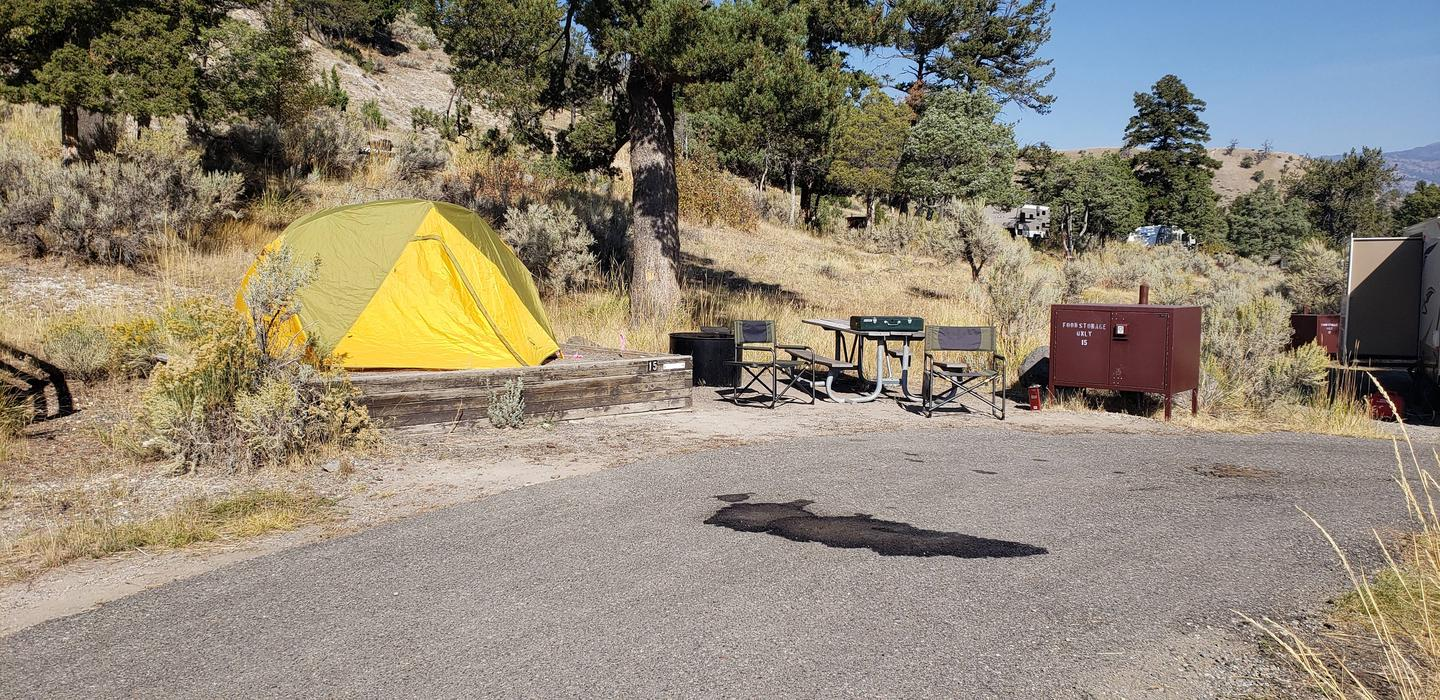 Mammoth Hot Springs Campground Site 15Mammoth Campsite #15