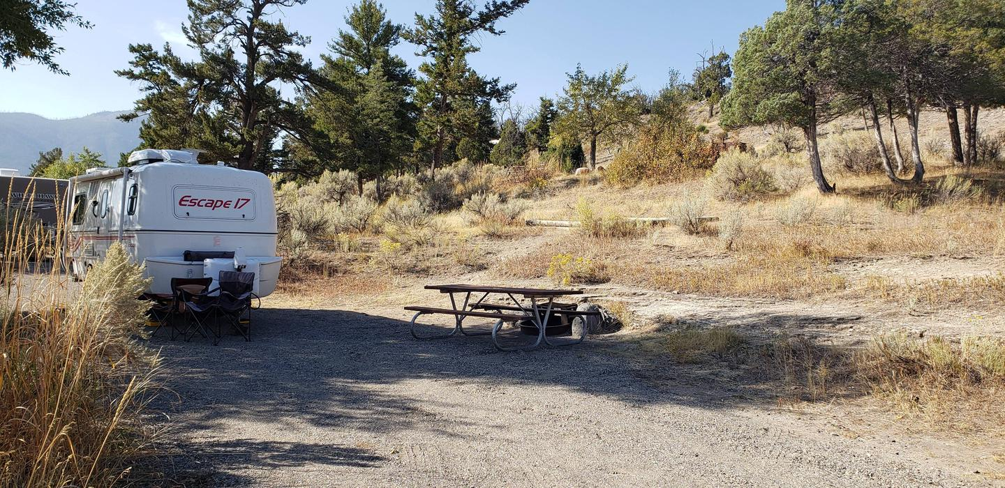 Mammoth Hot Springs Campground Site 19Mammoth Campsite #19