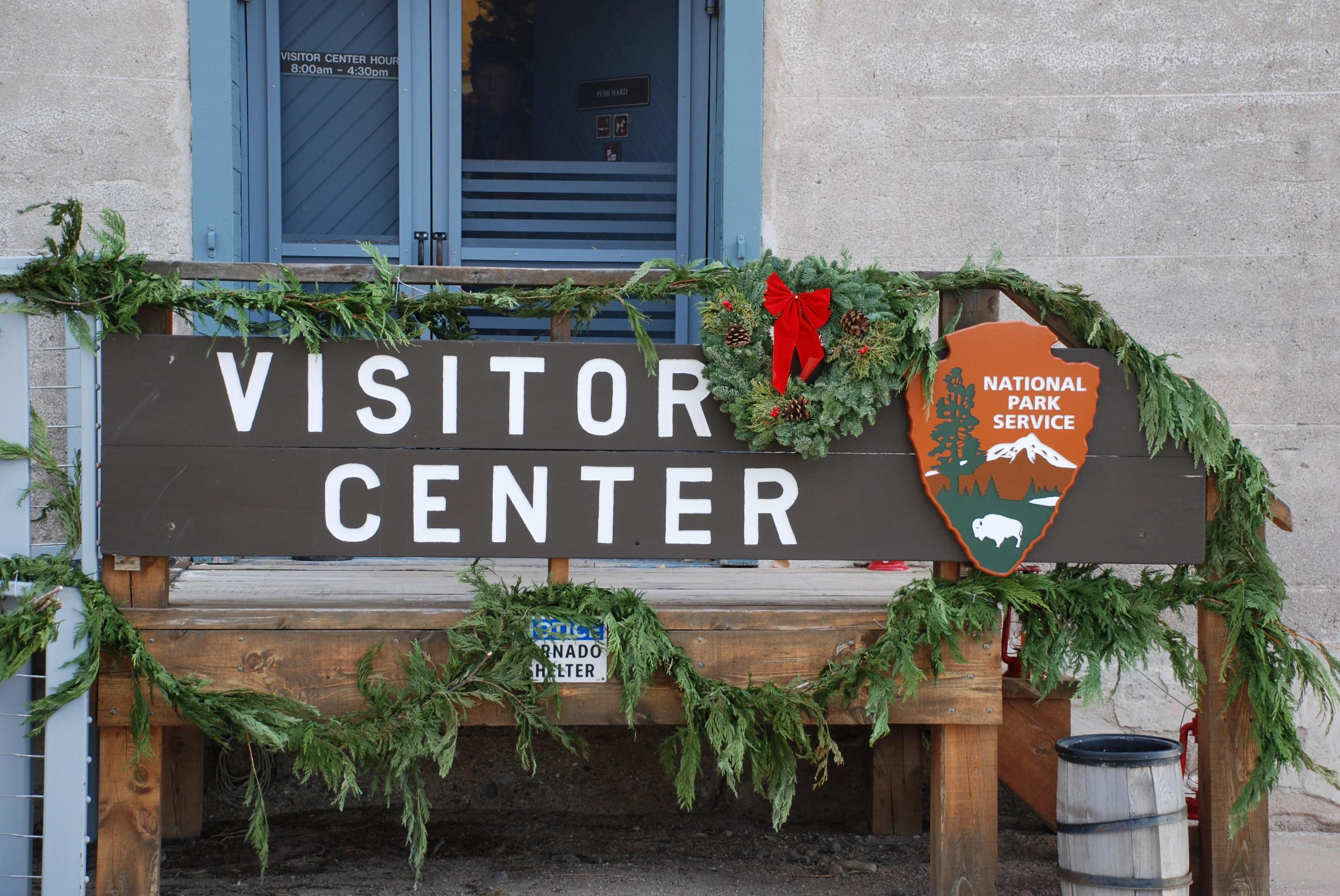 Visitor Center with Holiday DecorationsHolidays at Fort Laramie Visitor Center