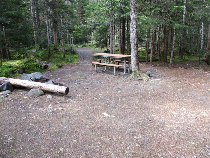 Picnic Table, tent area