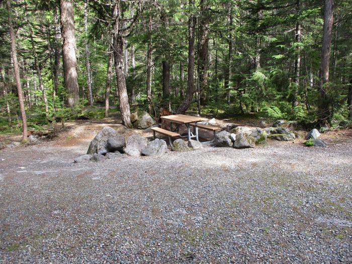 Driveway, picnic table
