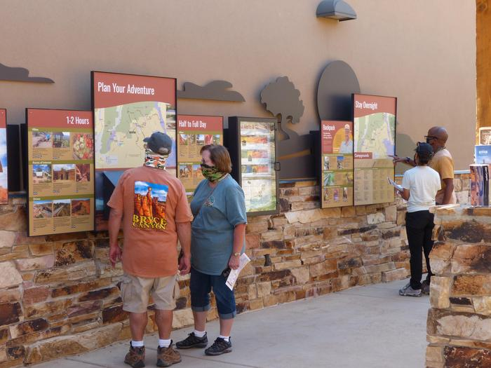 Peruse the Outdoor Exhibits at Escalante Interagency Visitor CenterAfter hours or when the visitor center is closed, you can still use the outdoor exhibits to help with trip planning.