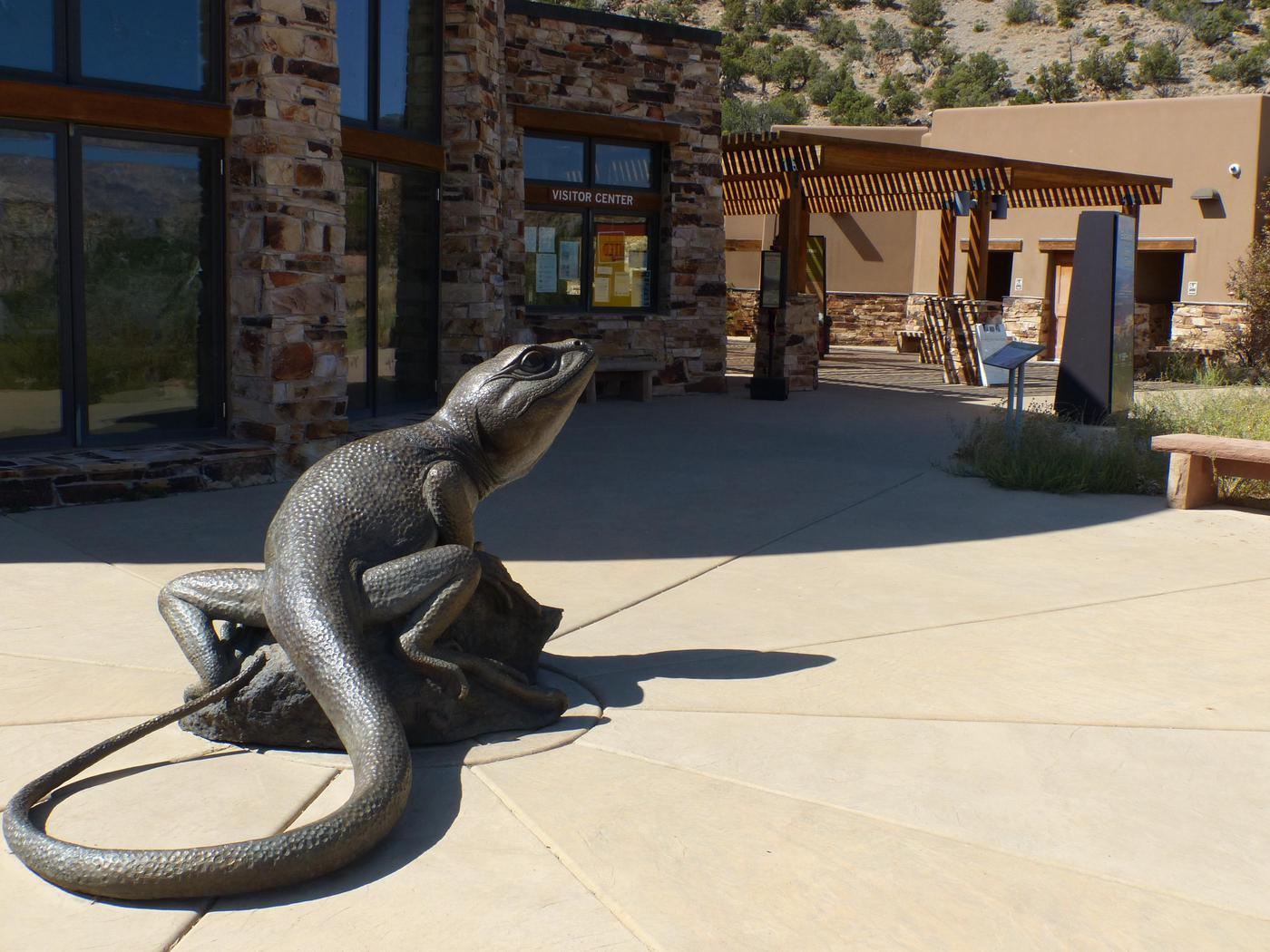 Giant lizard from Accessible Side of Escalante interagency Visitor CenterSay hi to the big lizard as you walk into the visitor center from the parking lot.
