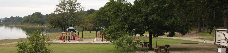 Playground near campsitesSelf Creek Campground, Lake Greeson, AR