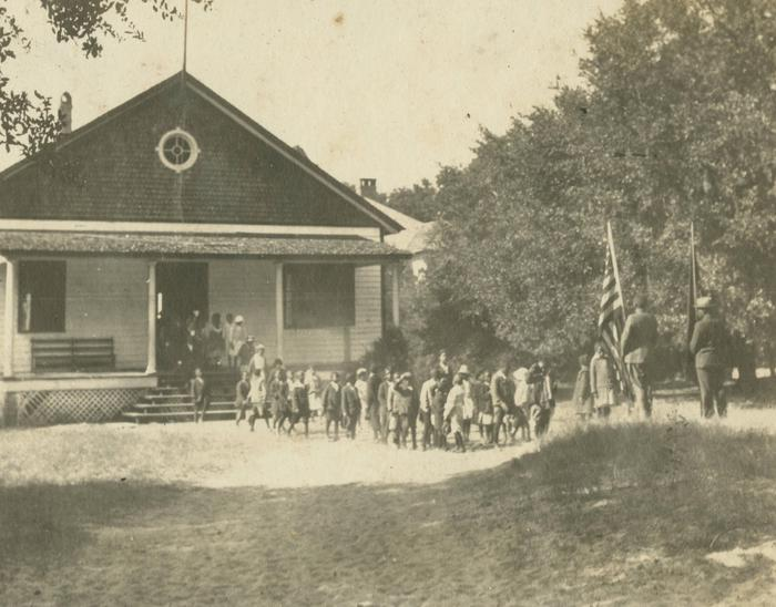 Historic Photo of Darrah HallDarrah Hall has been a community gathering place for generations of Sea Island residents.