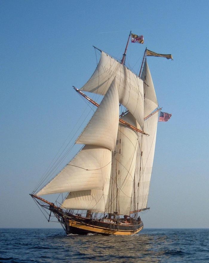 PRIDE OF BALTIMORE IIThe PRIDE OF BALTIMORE II is a sailing ambassador for the Trail.
