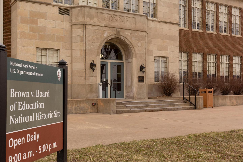Monroe_School_EntranceThe Monroe School building serves as the Brown v. Board of Education NHS Visitor Center