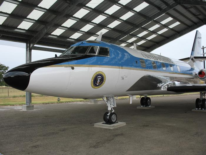 Lockheed JetstarOne of the five Lockheed Jetstars in service during the Johnson Presidency is now on display at the LBJ Ranch..