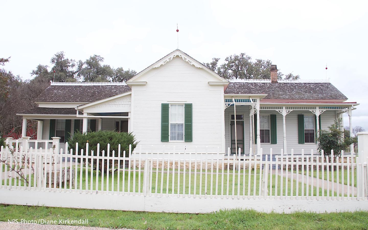 Boyhood HomeLyndon Johnson was 5 years old when he moved to this home with his family. His childhood in a small rural town had great impact on his futur.