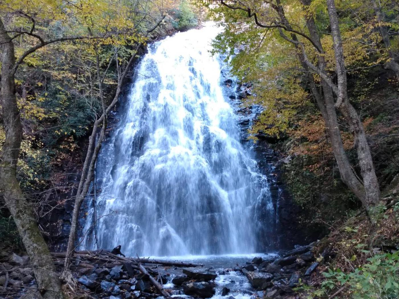 Crabtree Falls  - a 70 ft. waterfall.Beautiful Crabtree Falls plunges 70 feet and is accessible from the campground.