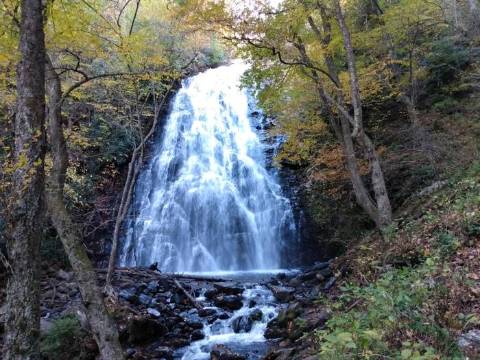 Crabtree Falls  - a 70 ft. waterfall.Crabtree Falls, a 70-ft waterfall, is accessible from the campground.