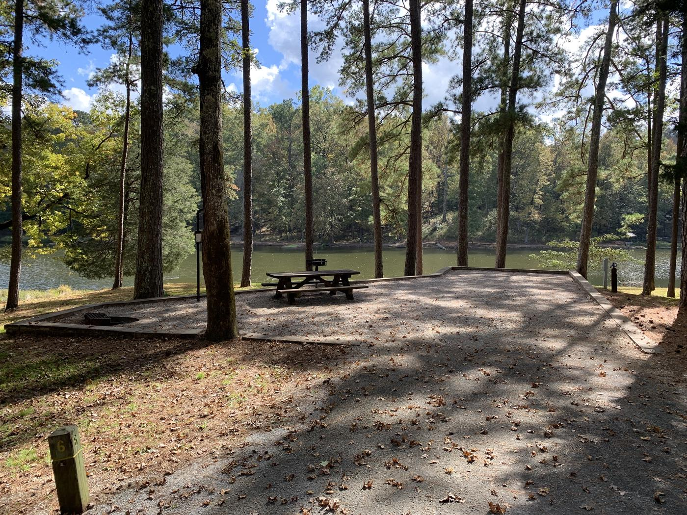 Campsite #6Campsite #6 at Choctaw Lake campground