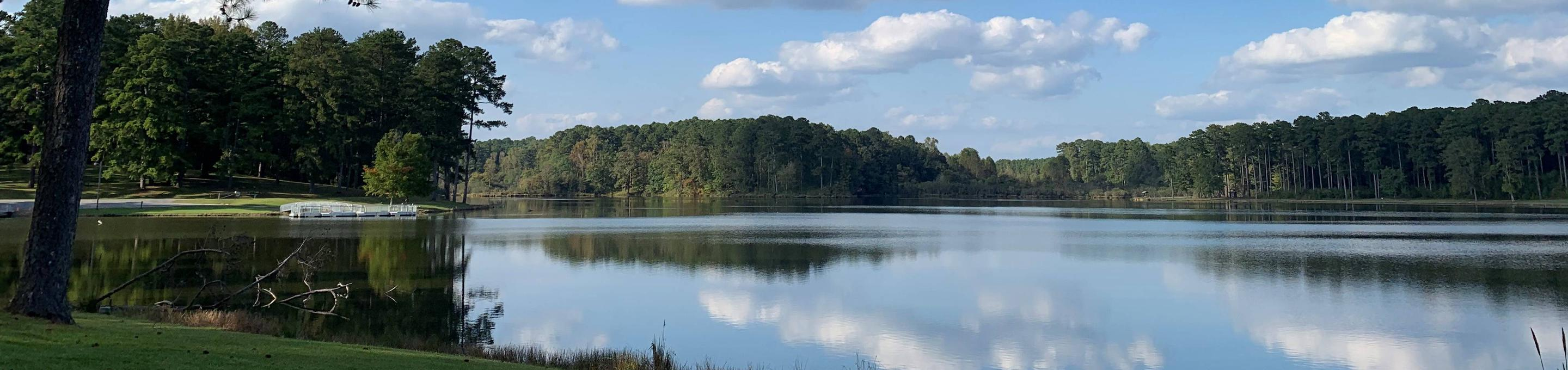 Choctaw Lake in OctoberPhoto looking across Choctaw Lake from the swimming area.
