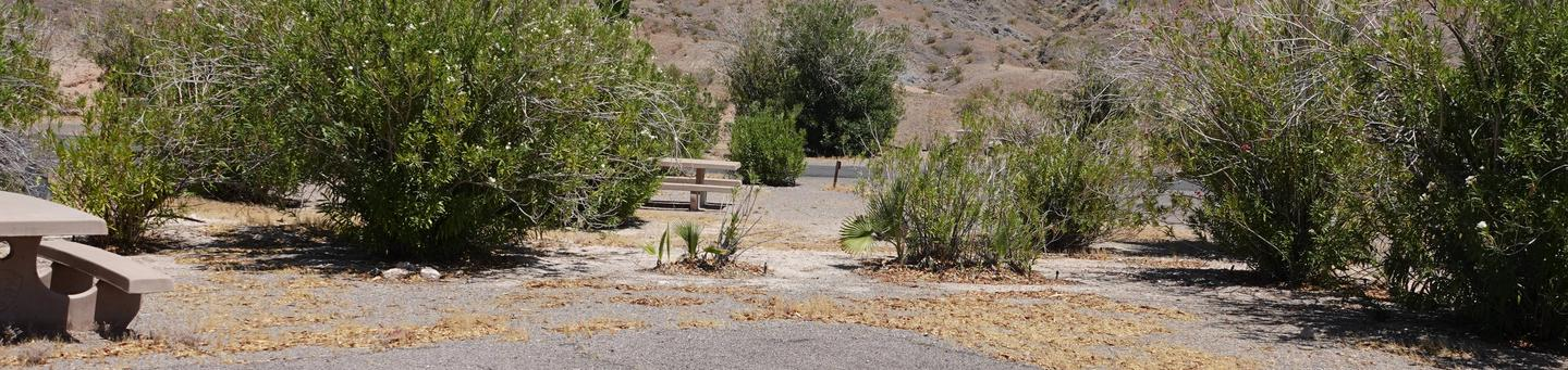Campsite located in a desert setting1Callville Bay Campground Site 17