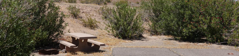 CB Campsite located in a desert setting 1803Callville Bay Campground Site 18