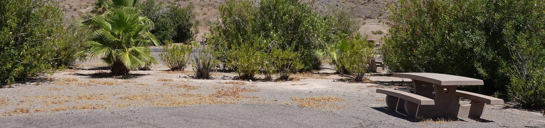 CB Campsite located in a desert setting 1903Callville Bay Campground Site 19