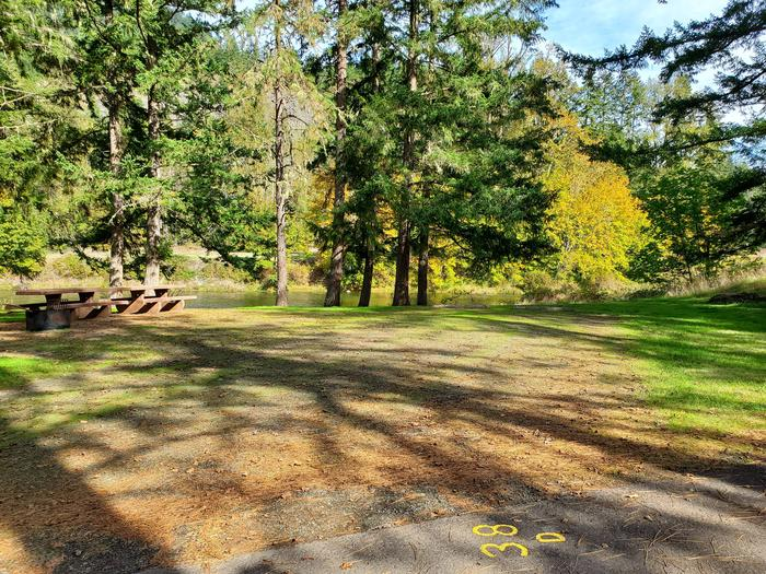 Site 38D driveway and picnic areaSite 38D