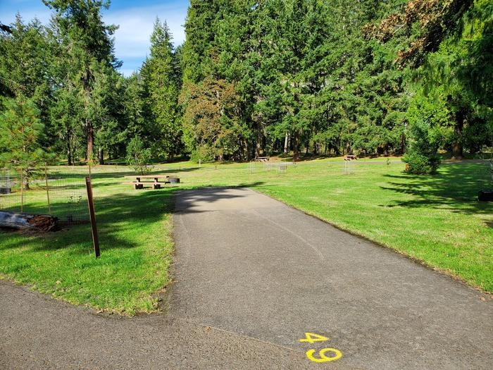 Site 49 driveway and picnic areaSite 49