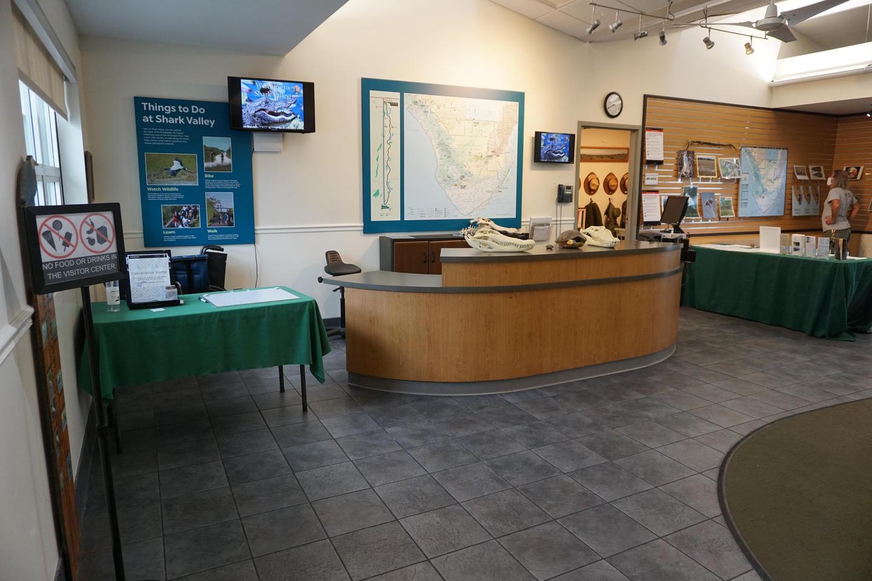 Shark Valley Visitor Center Information DeskThe Shark Valley Visitor Center Information Desk