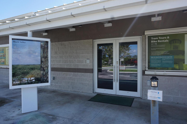 Shark Valley Visitor Center EntranceVisitor Center Entrance Door and Display