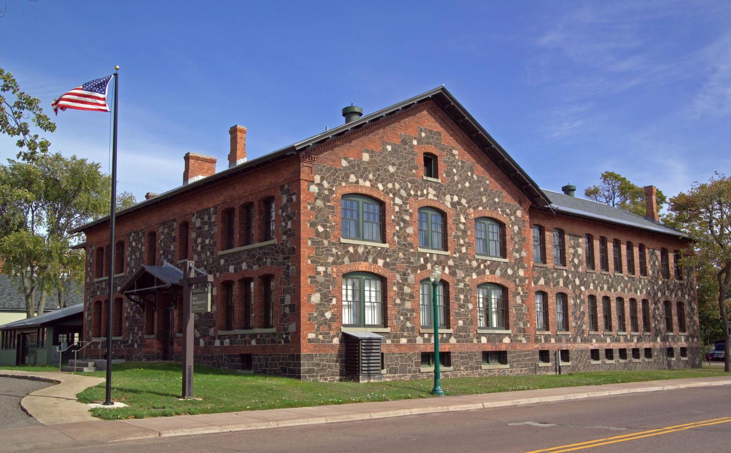 Keweenaw NHP HeadquartersPark Headquarters is housed in the former Calumet & Hecla Mining Company General Office building.