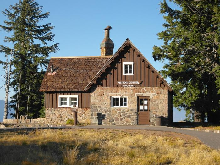 Rim Village Visitor CenterBuilt as a studio in 1921 for park photographer Fred Kiser, this historic building now houses the Rim Visitor Center and Crater Lake Natural History Association Park Store.
