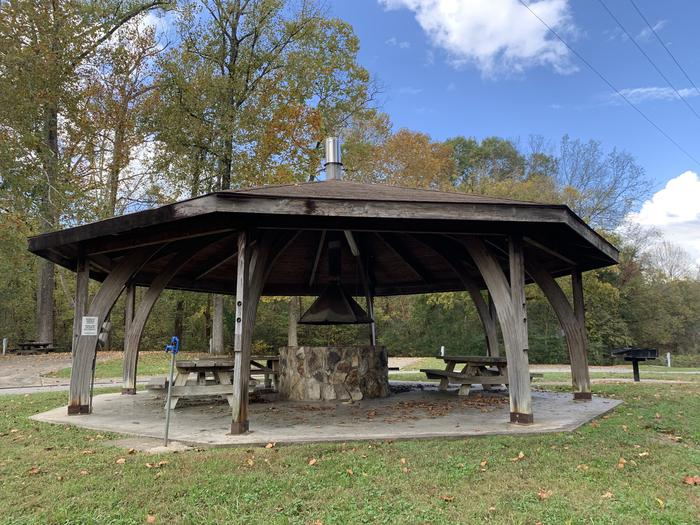 Non Reservable Shelter with fire pit, electric, and water Non Reservable Shelter with fire pit, water, and electric