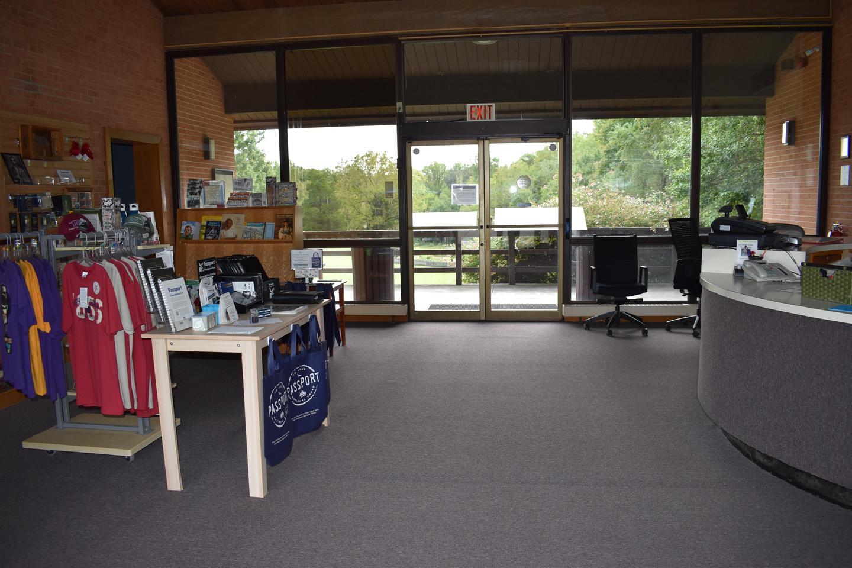 Inside Visitor CenterInterior of visitor center