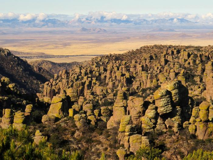 View from Massai PointMassai Point offers excellent views of the standing rocks at Chiricahua