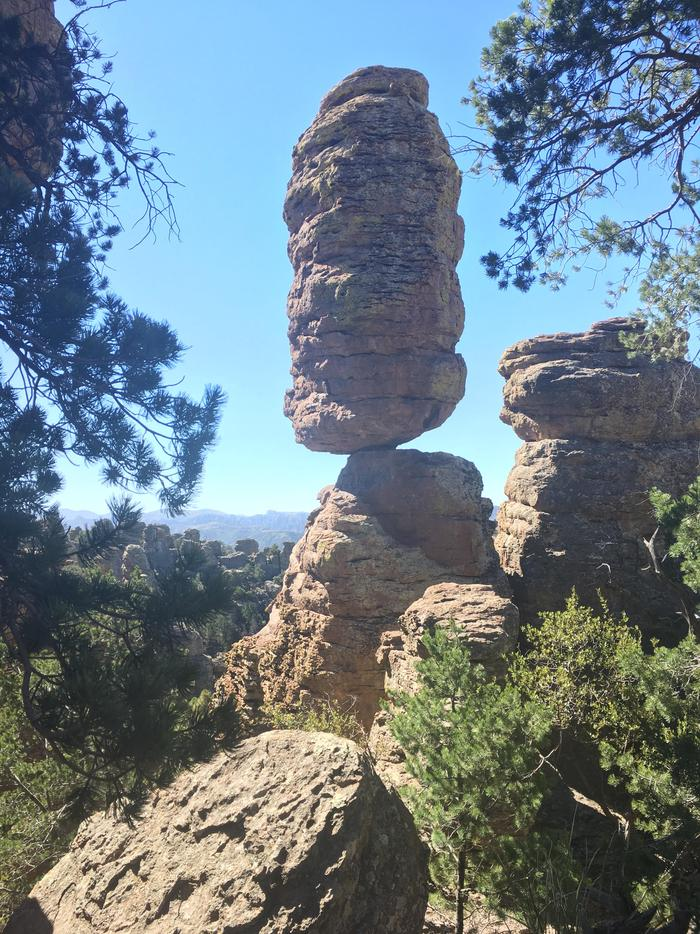 Pinnacle Balanced RockPinnacle Balanced Rock is one of Chiricahua's most famous features.