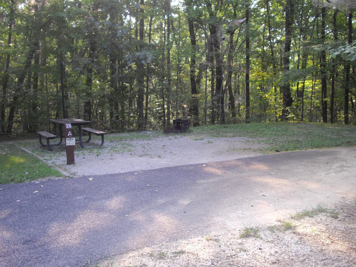 A028A028 Plenty of room between  camp sites.