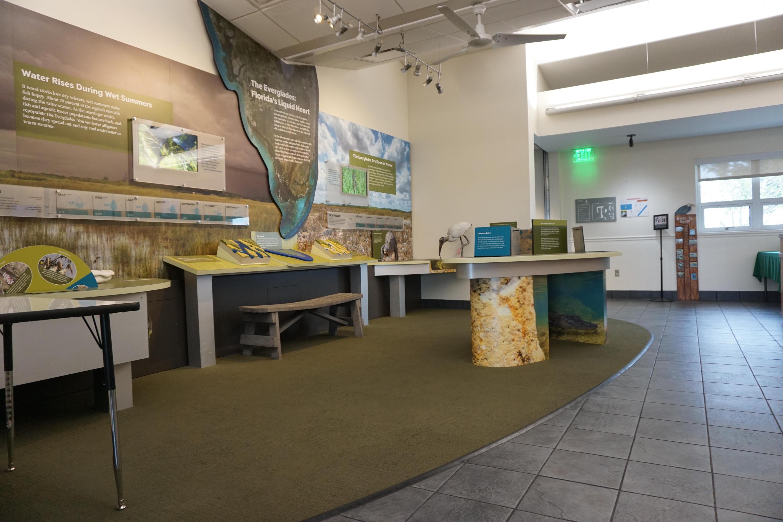Shark Valley Visitor Center Exhibit AreaThe interior exhibit area of the visitor center at Shark Valley