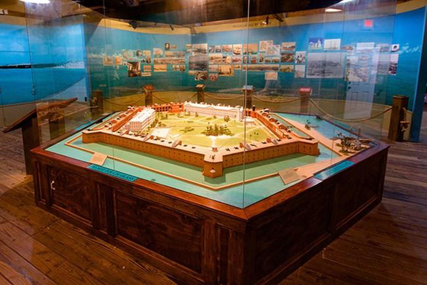The Bight Visitor CenterScale model of Fort Jefferson