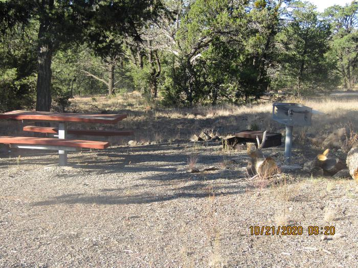 Spacious Picnic Tables, Grills, and Fire Pits.Different size fire pit areas.