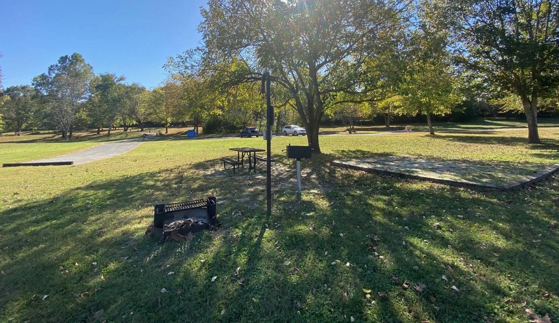 Tyler Bend Main Loop Site# 26-8Site #26, 53' back-in, tent pad 15' x 15'