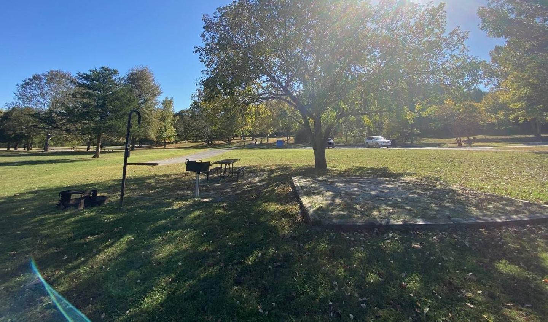 Tyler Bend Main Loop Site# 26-9Site #26, 53' back-in, tent pad 15' x 15'