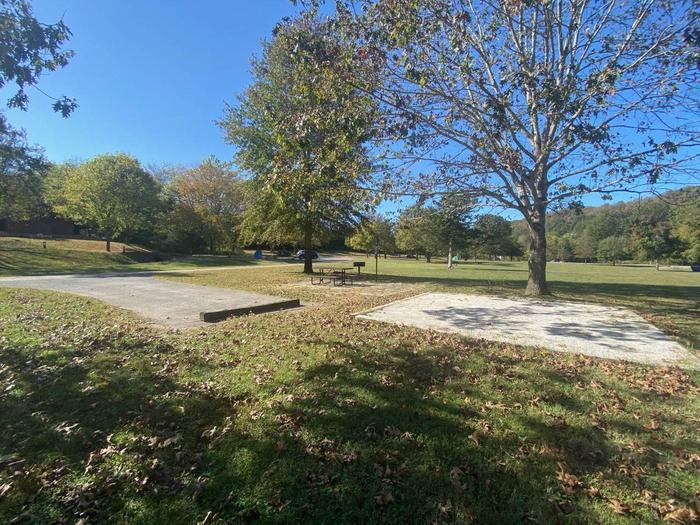 Tyler Bend Main Loop Site# 27-7Site# 27, 45' back-in', tent pad 15' x 15'