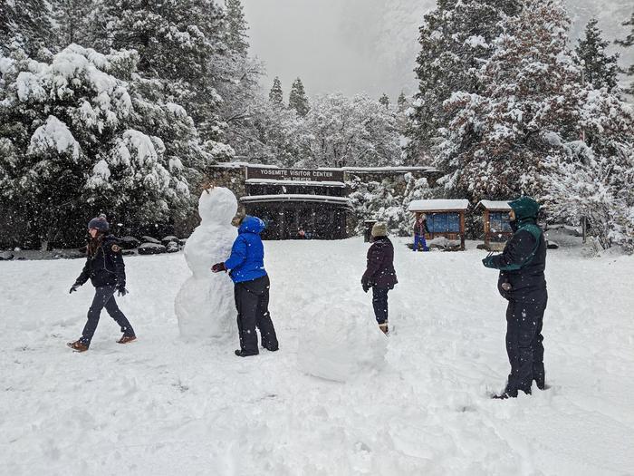 Yosemite Valley Visitor Center in Winter