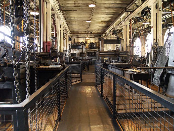 Heavy Machine Shop at the Edison Laboratory ComplexOne of main machine shops, where Thomas Edison and his staff worked on research and development, prototypes, and products.
