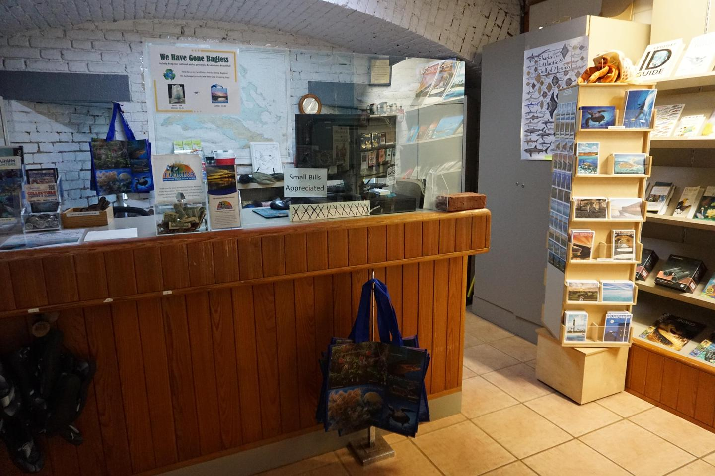 Garden Key BookstoreThe Bookstore in the Garden Key Visitor Center has gifts and souvenirs for purchase