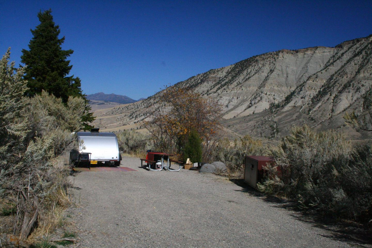 Mammoth Hot Springs Campground Site 23 photo 2Mammoth Campsite #23