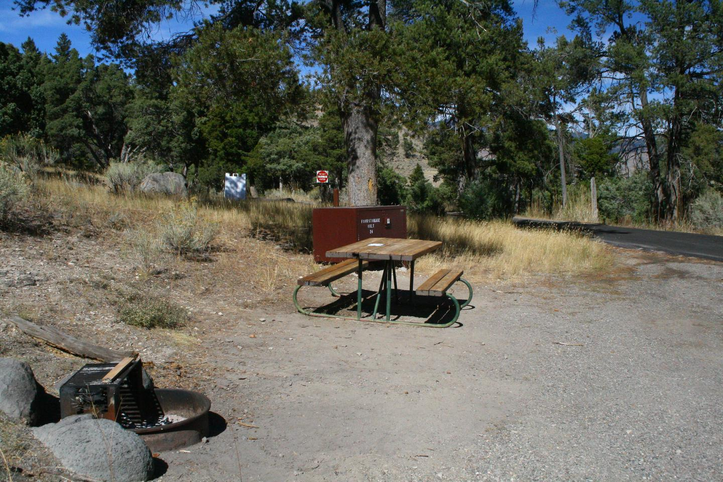 Mammoth Hot Springs Campground Site 24Mammoth Campsite #24