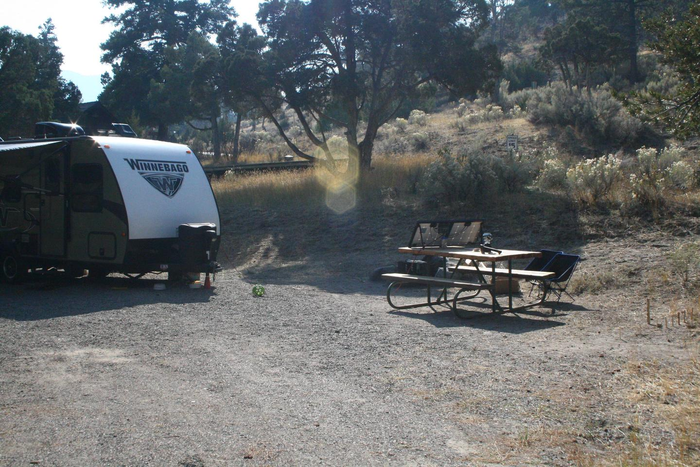 Mammoth Hot Springs Campground Site 24aMammoth Campsite #24