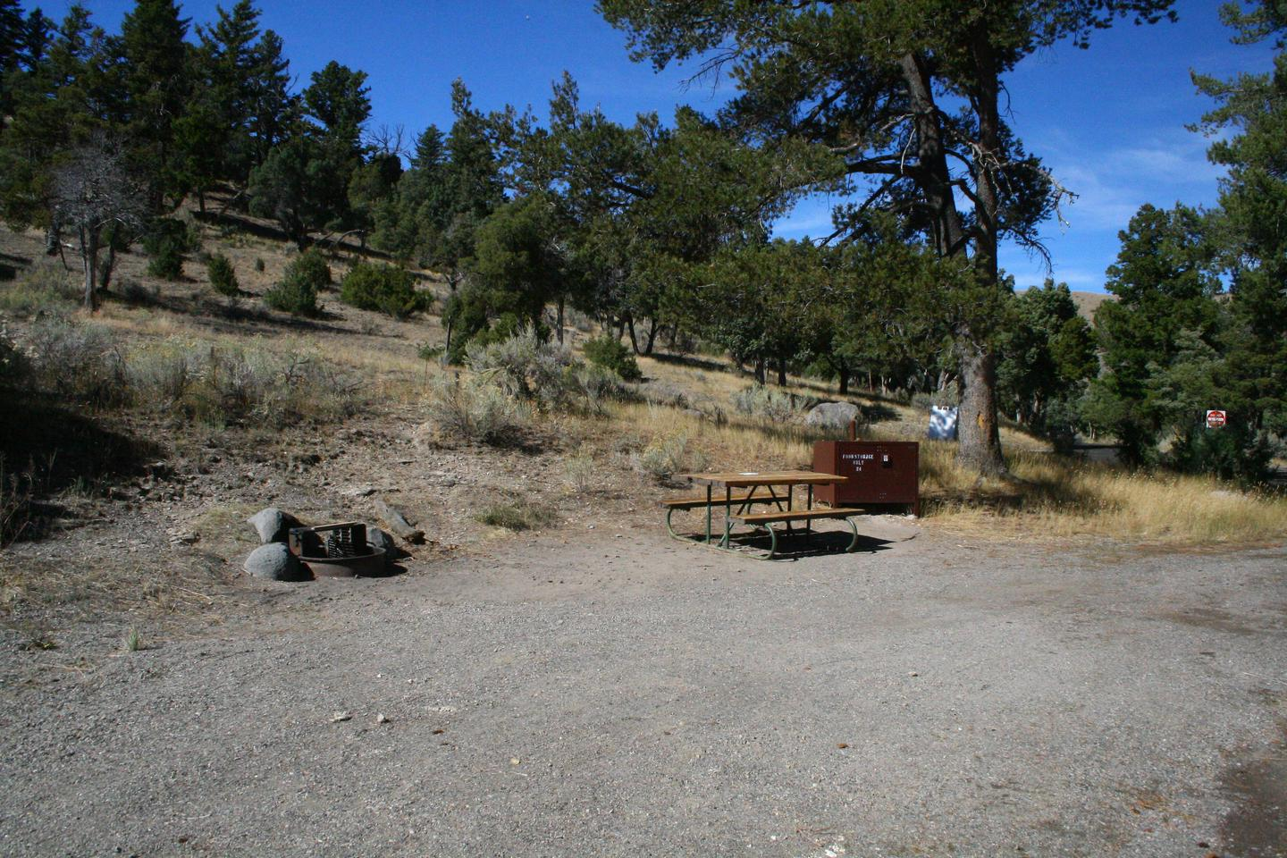 Mammoth Hot Springs Campground Site 24bMammoth Campsite #24