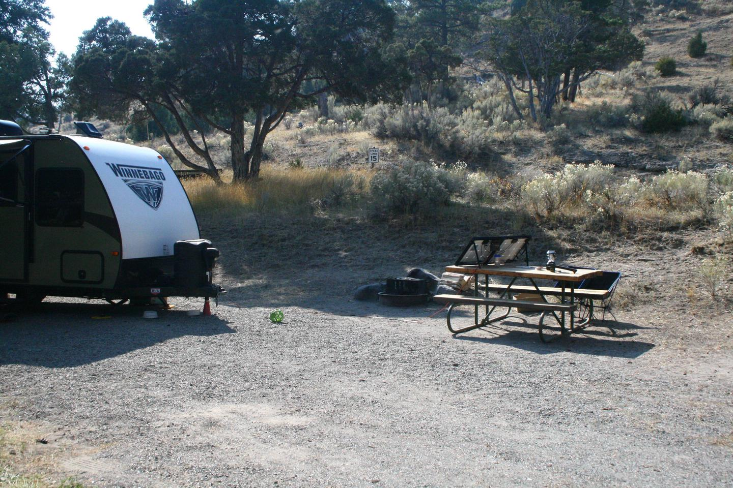 Mammoth Hot Springs Campground Site 24cMammoth Campsite #24