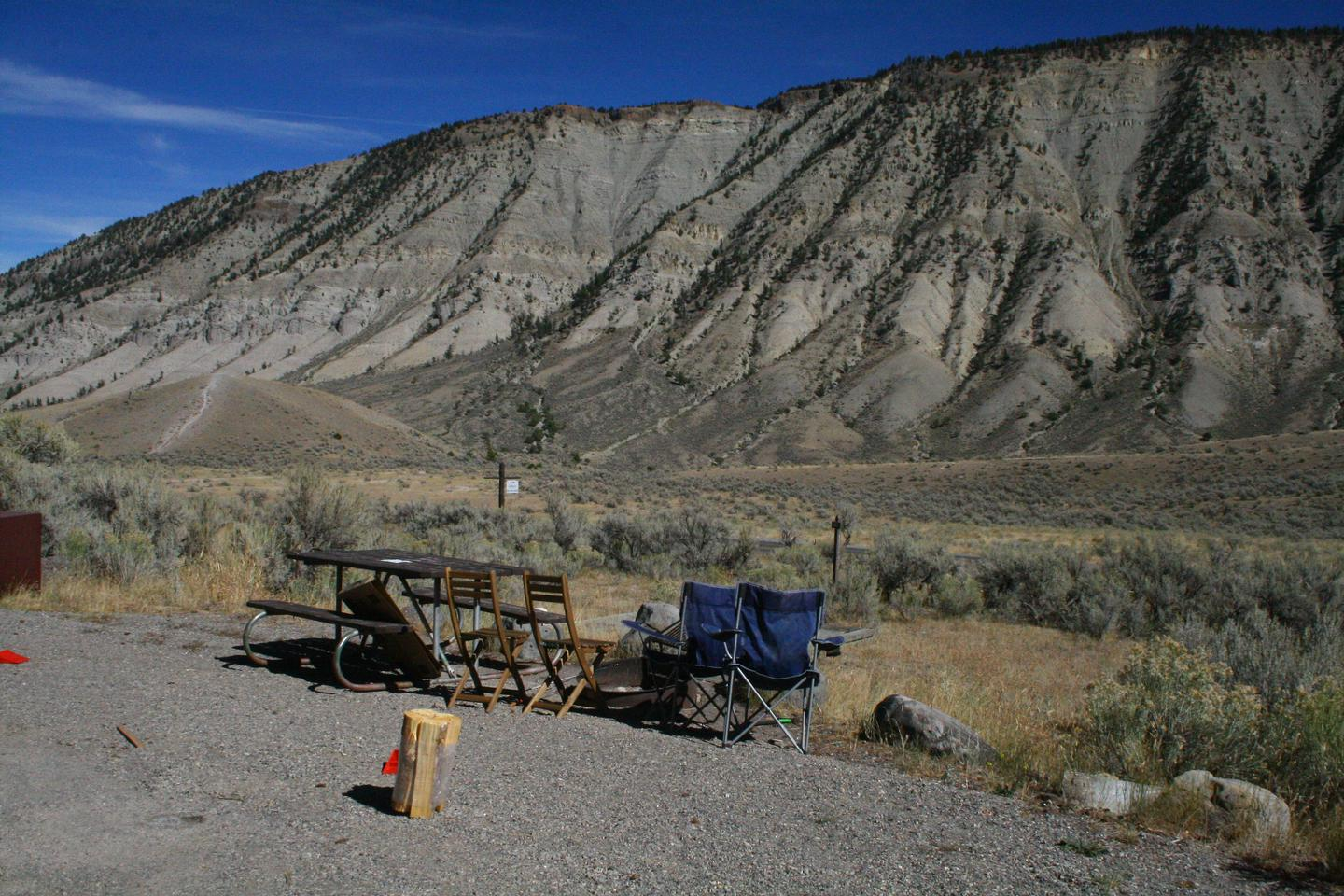 Mammoth Hot Springs Campground Site 25Mammoth Campsite #25